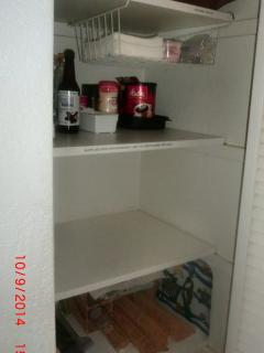 Hall pantry- unique to our condo!