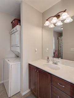 Master bathroom has full-size washer & dryer, with soap!