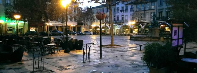 The central Place de la Republique at dawn - within an easy stroll