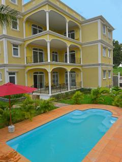 Three luxurious apartments, each contained three bedrooms. Main bedroom is ensuite. 200sq Mts each.