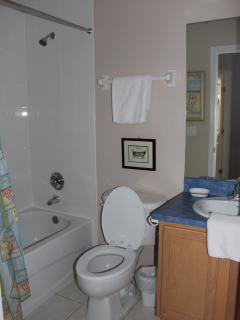 Bathroom Shared by Twin Bedded Rooms..With Shower Bath and loo
