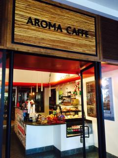 Aroma cafe with great coffee!