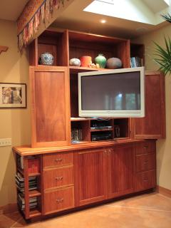 42' Television with Direct TV, DVD, VCR in Red Star Great Room