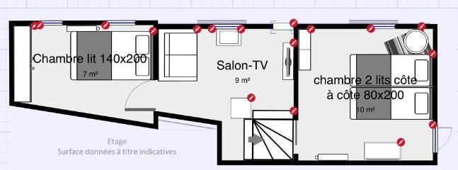 Premier étage (échelle approximative)