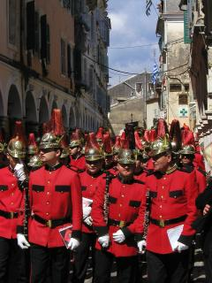 A band in Corfu Town