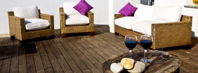 Lounge seats terrace