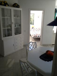 Dining/breakfast room,opposite the twin bedroom with a seaview.