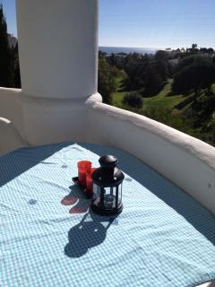 Another balcony angle with a view of the golfing range and seaview in the distance.