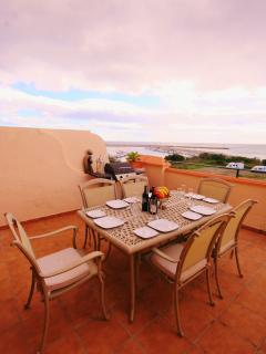 Dine in style overlooking the sea