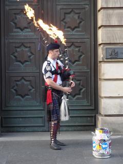 Flaming Piper - Royal Mile