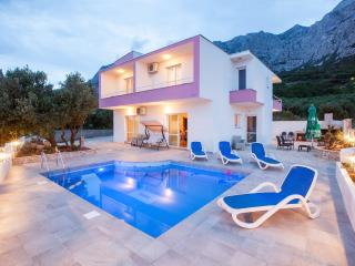 Villa with pool and sea view in Makarska