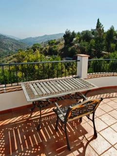 Terrace off upstairs bedroom with  magnificent views
