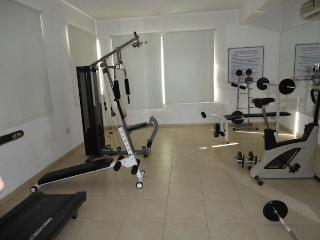 Small gym to work off those excesses