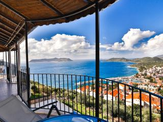 The best views in Kas from the full length front balcony.