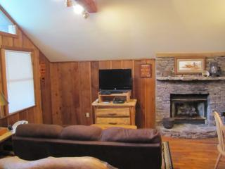 Living Area with Gas Fireplace, TV, DVD & Cable