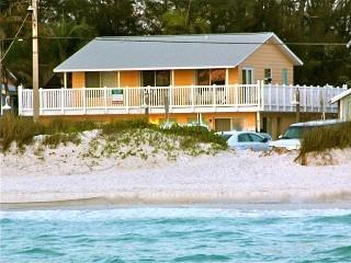 A close view of the 4-plex from the Gulf of Mexico, before recent renovation.