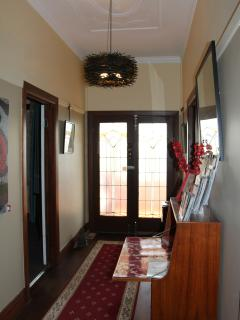 Entry hall, Pengallie. Well stocked with Visitor Information, Dining suggestions, maps & local info