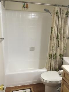 Newly refinished bathroom.  Clean and bright!