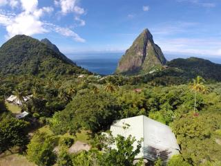The villa is located just outside the Pitons World Heritage Site...