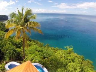 Located on the edge of a bluff, with an absolutely stunning view over the ocean...