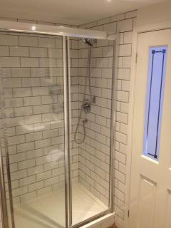 En-suite with double size shower