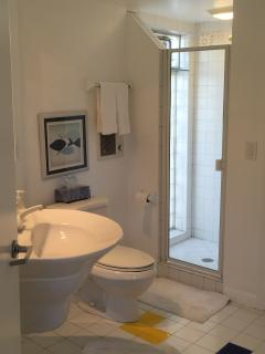 Full bathroom off great room.