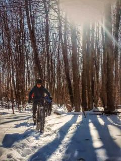 Mountain biking is a four-season sport