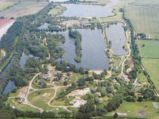 Areal view of Pentney lakes