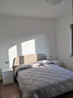 Master bedroom with large double bed