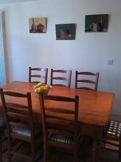 Kitchen table that seats 8