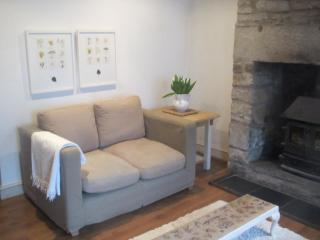 Living room, with Inglenook & woodburning stove.