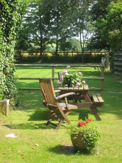 picnic table and paddock