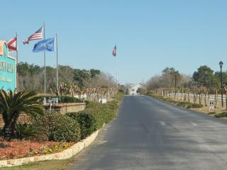 Turn left into our long driveway 1/4 mile long which is great for a nice private walk or run.