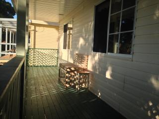 Enjoy the evening sun on the front balcony.