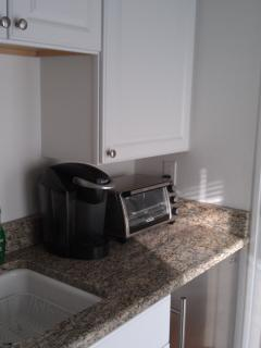 Kitchenette with Toaster Oven & Keurig Coffee Maker