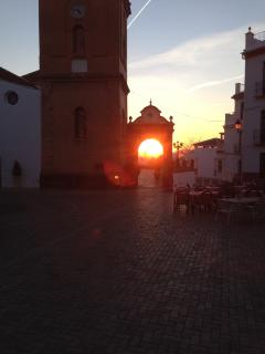 Have a drink in competa square and watch the sun going down