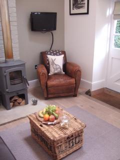 TV/DVD and woodburner