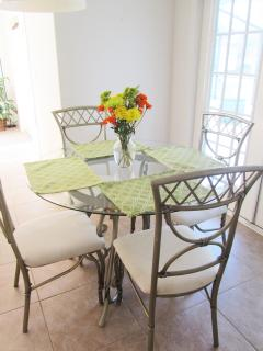 Sunny and bright dining nook