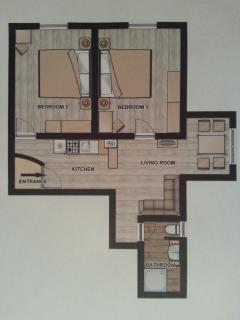 apartment 1 tloris