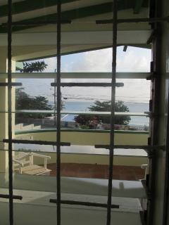 Sea view from window of bedroom 1