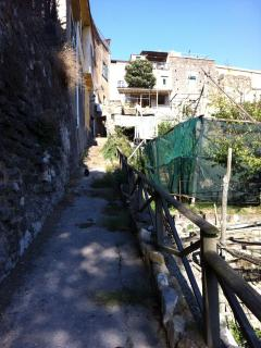path around the villa