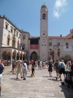 the central square in the Dubrovnik Old Town - Luza Square