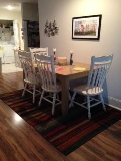 New hard wood floors lovely dining area