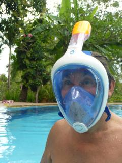 sportactivities like snorkeling or diving with full glass mask, trekking, canoe..