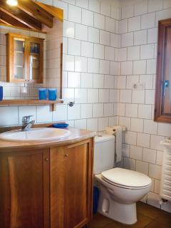 Bathroom: shower, washbasin, bidet, toilet