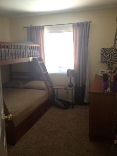 Bedroom#2 with full/twin bunk bed and dresser