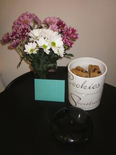 All our guests enjoy the welcome here with fresh flowers, and home made flapjacks.