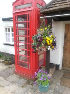 Old phone box in the grounds at Sheephouse Manor