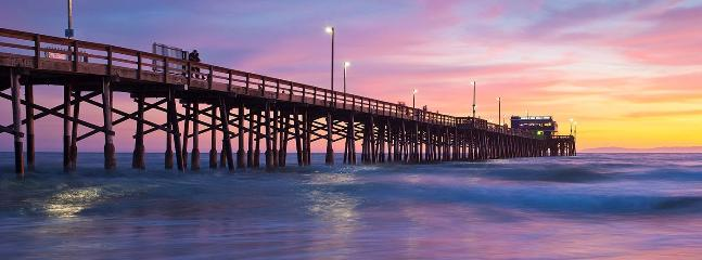 Newport Beach pier is a great place to watch the sunset.  1.5 miles from house.