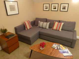 The living room with double sofabed